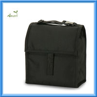 600D PackIt Freezable Lunch Bag freezable gel with Adjustable Strap, Black