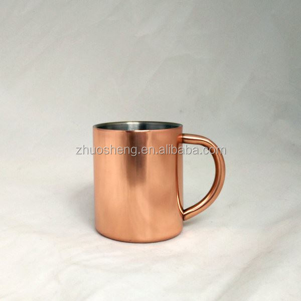 2015 best selling stainless steel moscow mule beer cups with copper