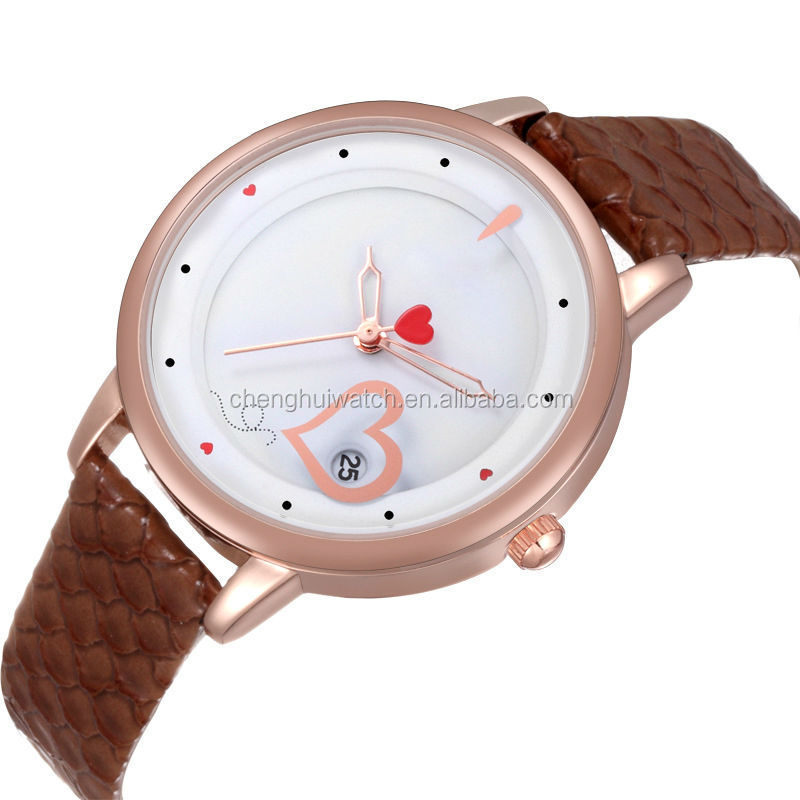 silver rose gold diamond big face girl watch for young people and kids watch