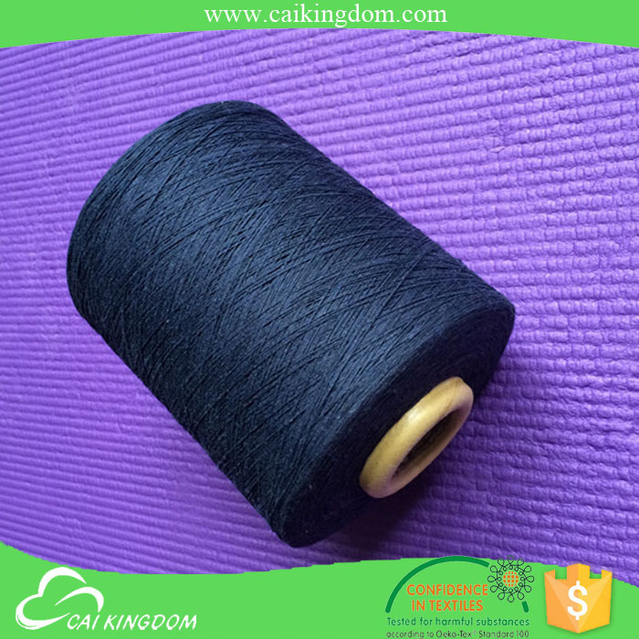 larggest exporter 70% cotton 30% polyester supply 10s black weaving yarn