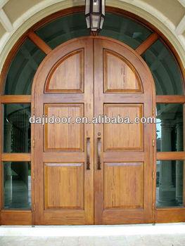 Round Top Wooden Double Door Designs Side Lite Surrounded Dj S6060 Buy Door