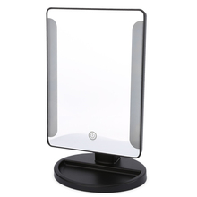 Fashion Power Portable Folding Toilet Lighted Cosmetic Mirror Black White Mirrors Can Stand Table Makeup