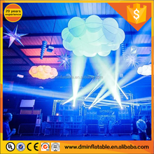 Colorful lighting inflatable cloud for stage and party decoration