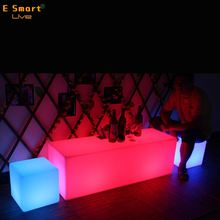 Colorful led tables and chairs for events,led cube chairs use to Party, Hotel, Home, Night club, Wedding, led cube 3d