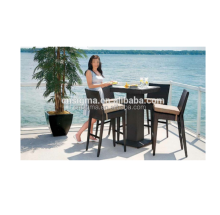 2018 Trade Assurance Outdoor Poly Rattan high top bar tables and chairs
