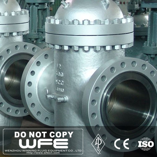 "WFE API6D 12"" inch Class 600 WCC Flanged End Through Conduit Gate Valve"