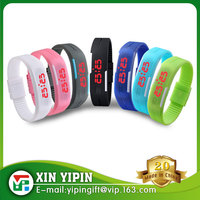 2016 Newest Wristband Digital Silicone Bracelet Watch With Your Own Design