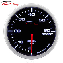 52mm 60 PSI Turbo Meter Japanese Auto Gauge D Racing Boost Gauge