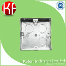 BS4662 standard electrical junction wall mount light switch box with knockout holes for steel conduit