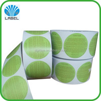 Custom printing matt lamination round roll labels, custom packaging logo sticker