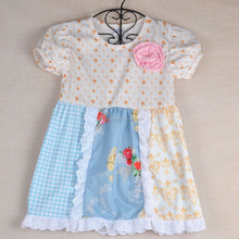 Wholesale Baby Girls Boutique Dresses children's boutique clothing remake handmade dress