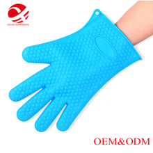 Perfect FDA Highest Rated Heat Resistant Five Fingered Grilling Oven Silicone Glove BBQ Glove