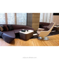 Luxury Fiberglass PU Leather Sofa Lobby