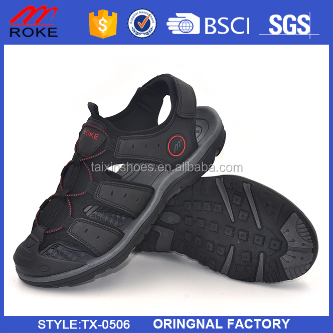 Closed-toe and PU Upper Material Breatheable Sole Sport Men Sandal