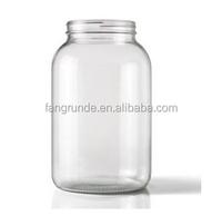 1 Gallon Round Clear Customized designing Glass Jar