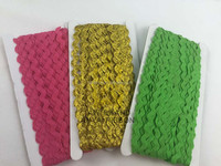 Factory Wholesale Low price 100% Polyester Ric Rac ribbon/Zig Zag ribbon
