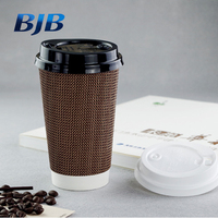 Hot Coffee 500ml Double Wall Paper Cups Popular Disposable Paper Cups