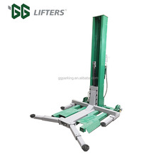 one Post single side handle release car lift with CE certification