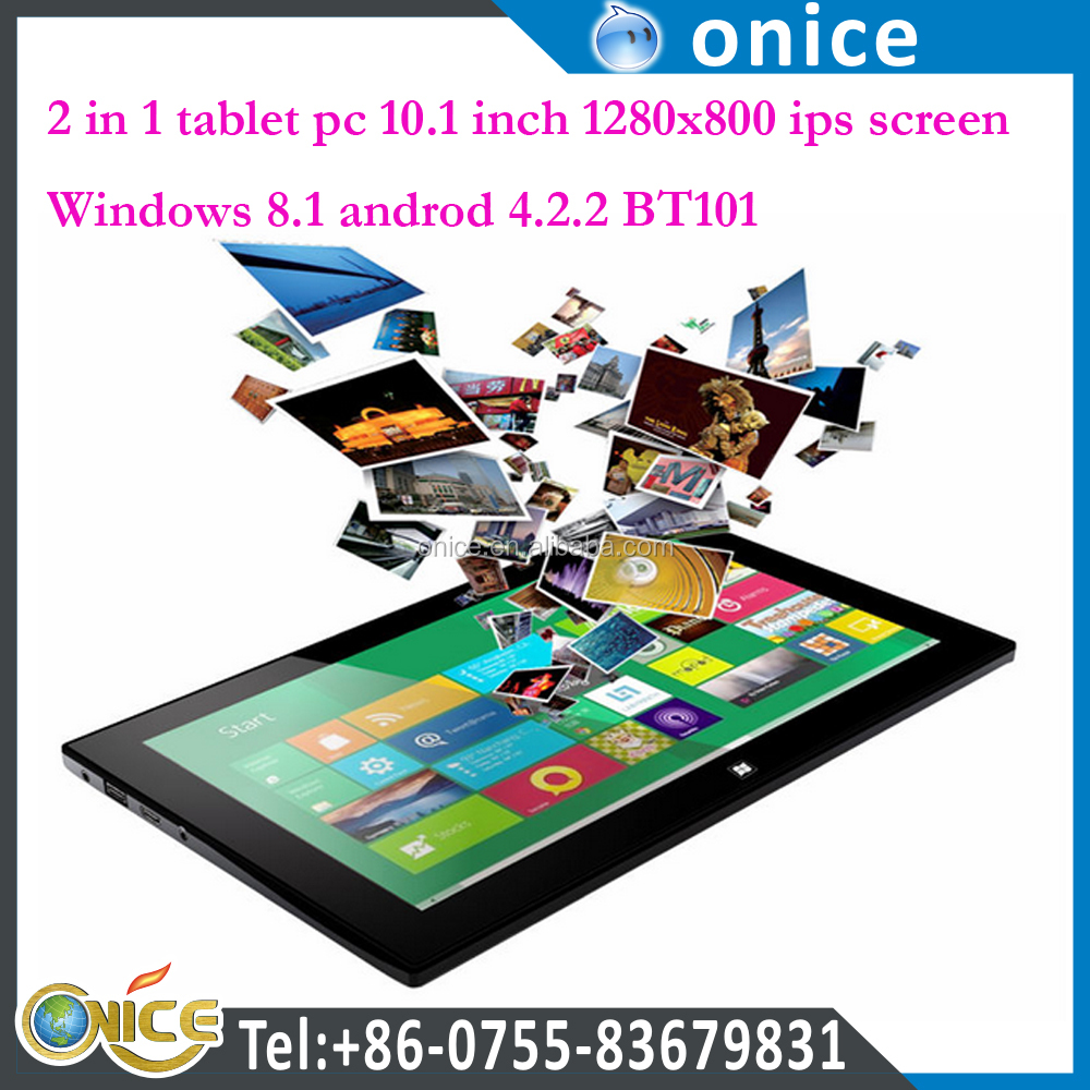 10.1inch 3g tablet pc windows10 BT201 windows8 dual system laptop tablet pc 1280x800 IPS Screen ram 2G+32G with 7000mah battery