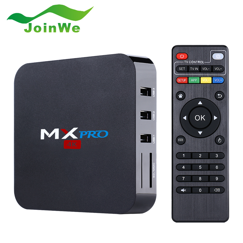 Wholsale Smart TV Box Pre-Installed Latest Xbmc 4 Kodi Fully Loaded Android TV Box Amlogic S905 Quad Core MX Pro Ott TV Box