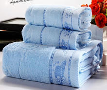 China Supplier 100% Cotton Bath Towels Wedding Towel Sets, Embroidered Bath Towel Sets