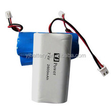 cheap 7.4v li-ion battery pack 2S 8.4V 18650 1800mah 2000mah; 2600mah; 3000mah
