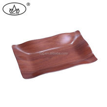 Hot sale high quality wooden fancy hotel serving trays customised