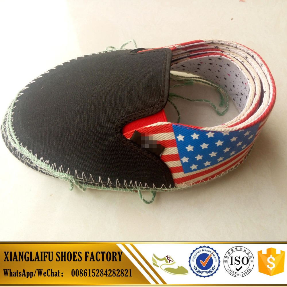 Semi-finished shoe upper canvas upper canvas shoe vamp for pvc injection shoes