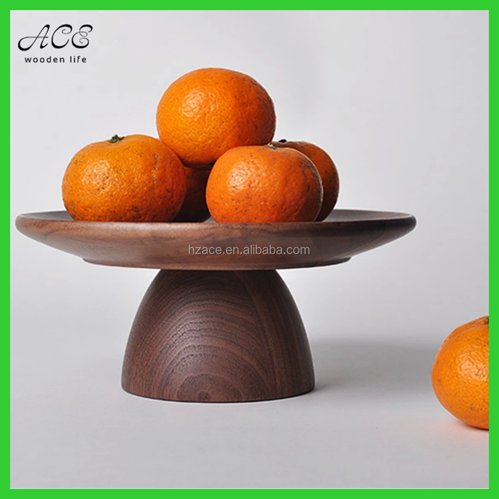 High quality walnut wood food tray