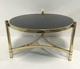 hot sale metal furniture small side table sets rose gold color round tea table