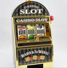 special,special shaped coin bank,casino slot machine game machine saving bank