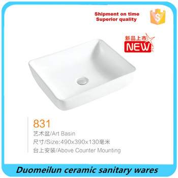 professional factory above counter sanitary ware art basin