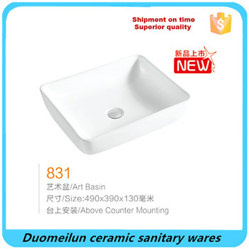 professional factory sanitary ware bathroom ceramic over counter washing basin