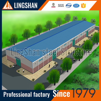 high strength prefabricated metal structure warehouse steel structure