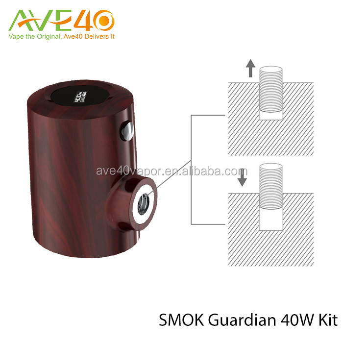 New design from AVE40 red black wooden e pipe SMOK Guardian 40W TC Kit