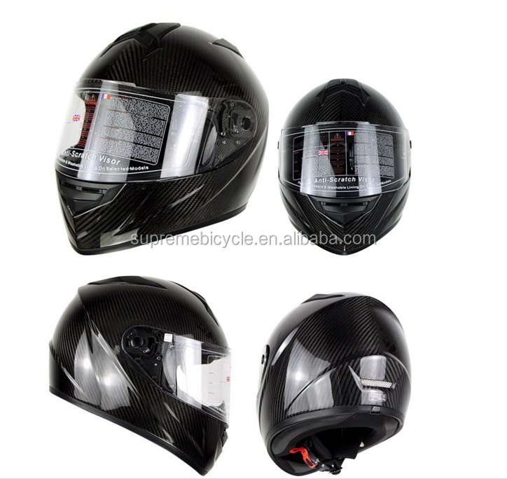 Wholesale Chinese Factory High Quality Glossy 3K/UD Carbon Fiber Safety Motorcycle Helmet