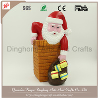 Santa Claus Outdoor Decorations Lovely Small Santa Claus,Plastic Gifts Maker