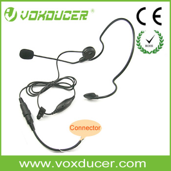 [M-E1360] Light-weight headset With PTT & boom Mic for Motorola walkie talkie two way radio accessories