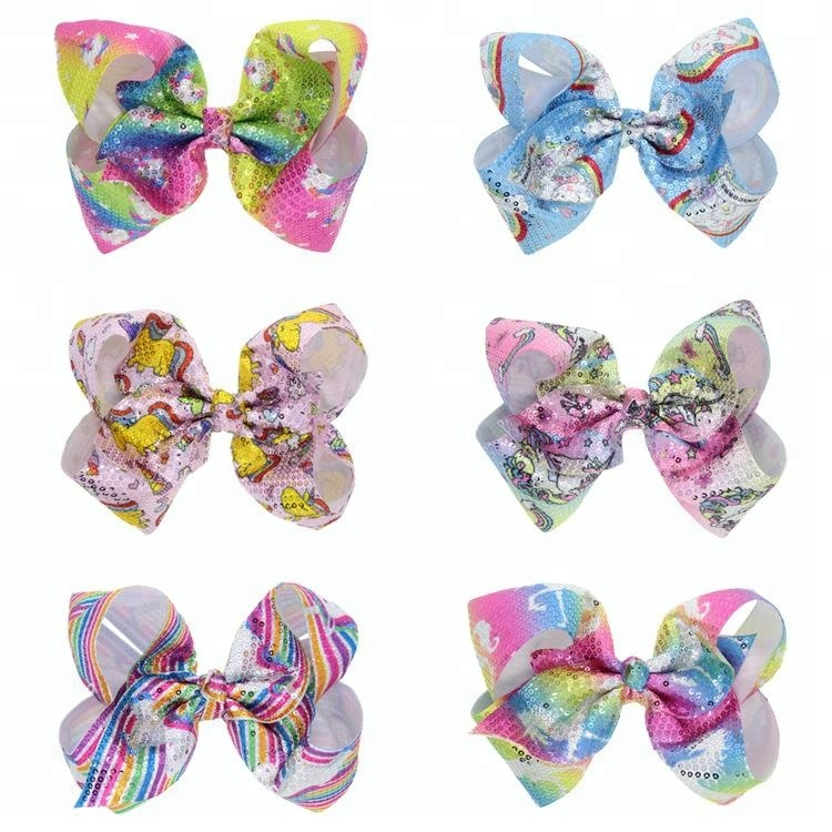Glitter Hair Bows Boutique Sequin Hair Clips For Party Hairgrips