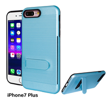 Kickstand mobile phone case card holder anti garavity phone case for iphone 7