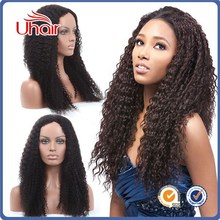 Wholesale Grade 7a 100% unprocessed human hair density 150% virgin peruvian lace front wigs