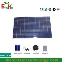 Hot Solar panel Fanghe best price DYP-250W CE Solar panel Mono crystalline 250w