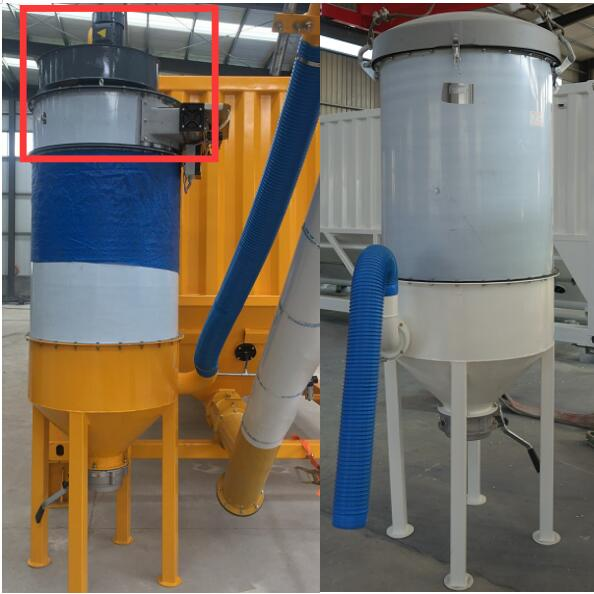 silo top  Vibrating type and air jet type  dust collector cyclone for cement silo