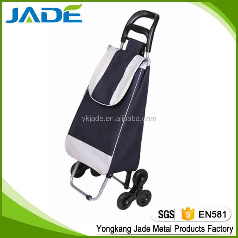 Folding stair climb shopping trolley bag with 6 wheels as seen on tv