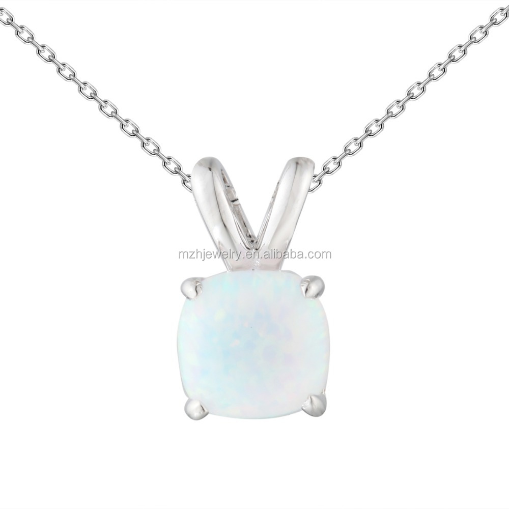 Fancy design opal stone 925 silver pendant with wholesale price