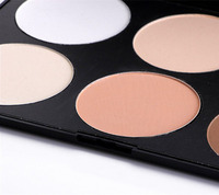 face powder foundation palette,silky mineral powder for face makeup pressed powder