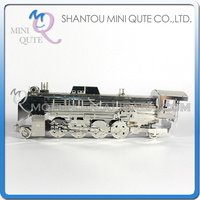 Mini Qute 3D Metal Puzzle D51 Steam Locomotive train military vehicle Adult kids model educational toys gift NO.S200-25