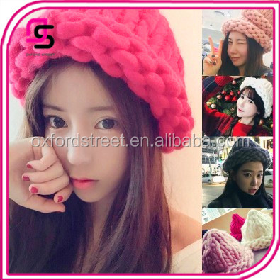 New fashion hand-made wool knitted cap for women/crochet hat
