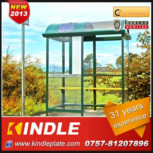 customized aluminum metal bus stop shelter with billboards