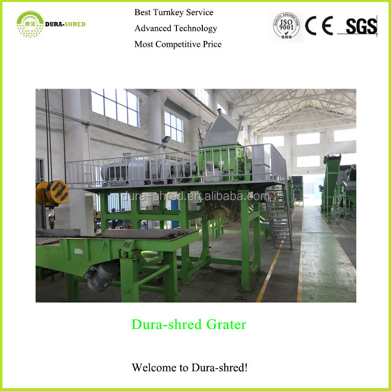 Dura-shred cost of tire recycling machine